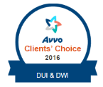 Avvo Clients' Choice 2016 - DUI & DWI